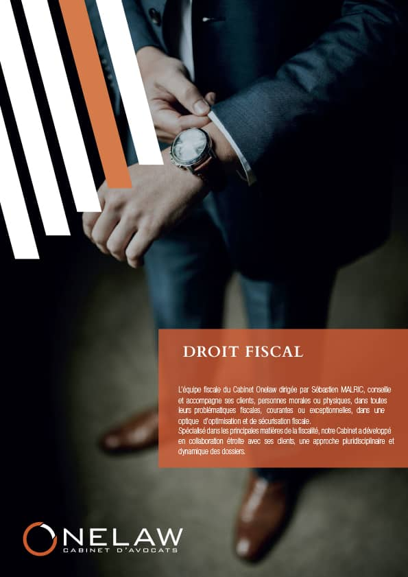Plaquette droit fiscal - Onelaw