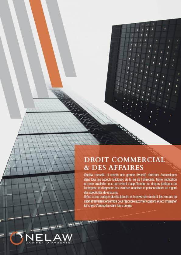 Plaquette droit commercial & des affaires - Onelaw
