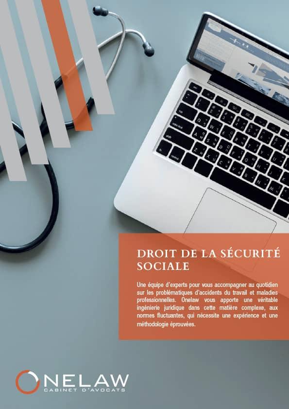 Plaquette Sécurité Sociale - Onelaw