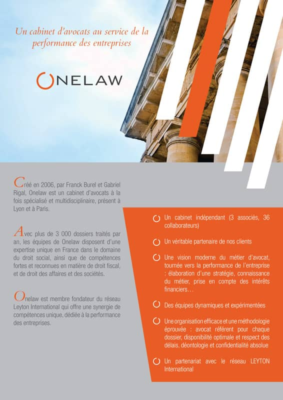 Plaquette Onelaw