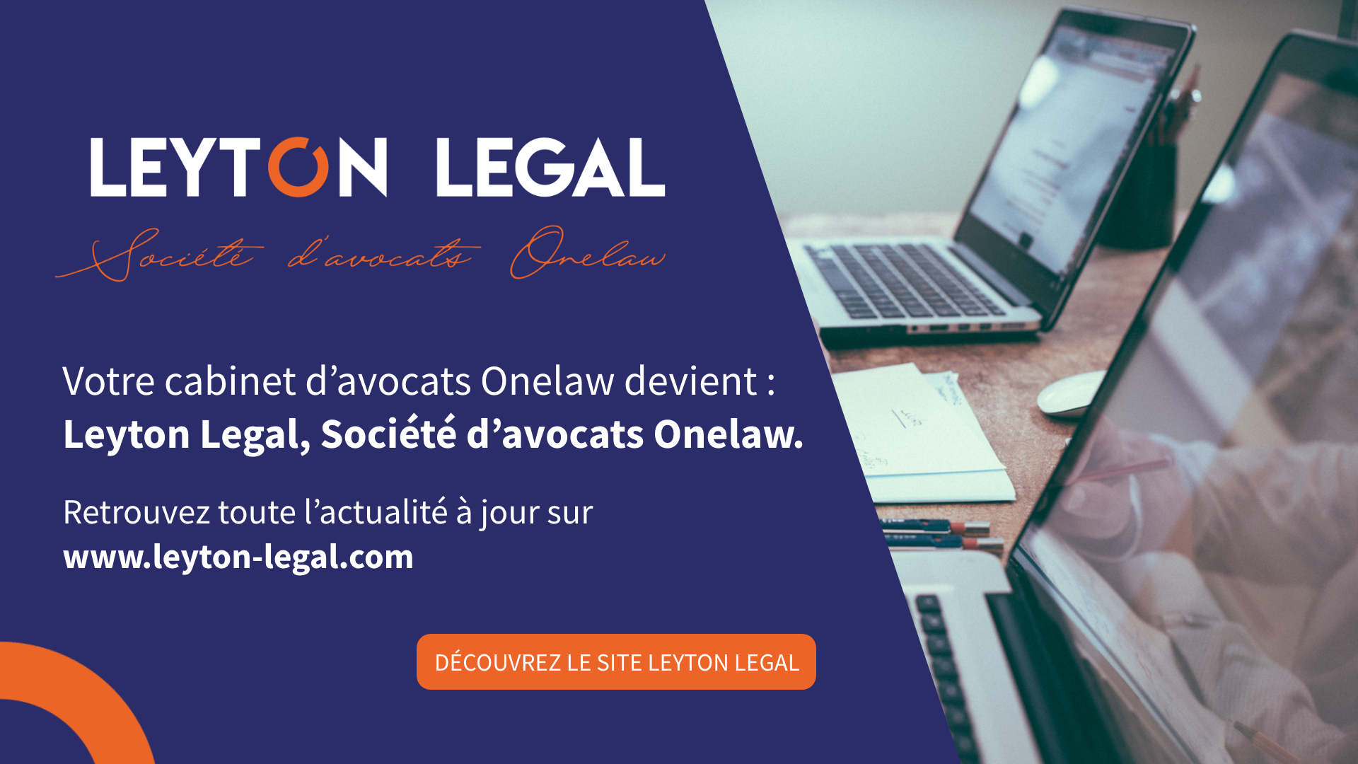 onelaw changement nom leyton legal